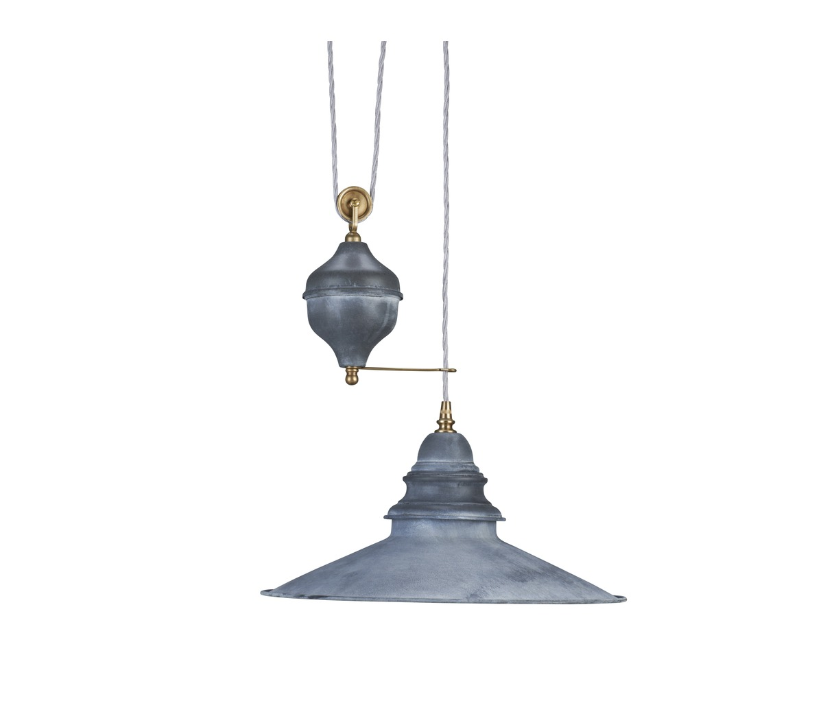 Industrial Rise And Fall Pendant Light: Lighting > Pendant Lights > Zinc Rise And Fall Light