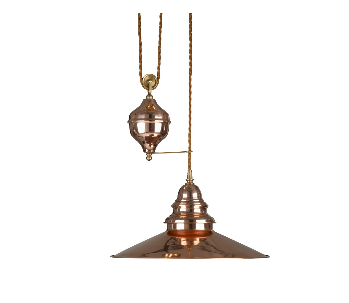 Industrial Rise And Fall Pendant Light: Lighting > Pendant Lights > Copper Rise And Fall Light
