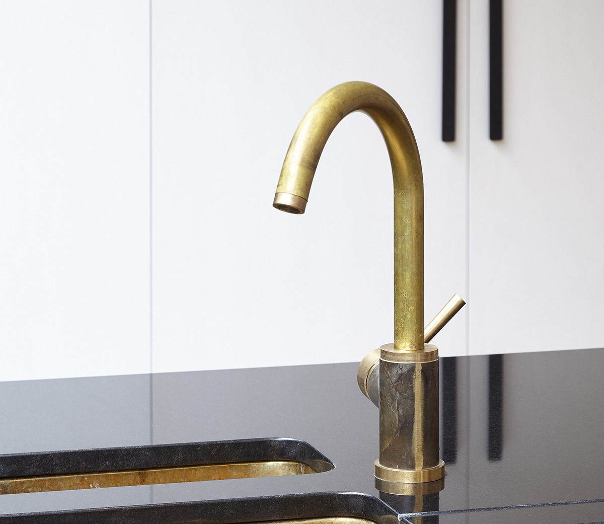 Brass Mixer Tap, 1 Hole / Swivel Ppout - The French House