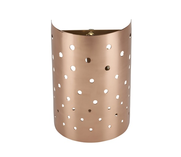 Copper Perforated Wall Lamp