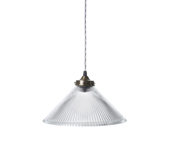 Conical Prismatic Pendant Light