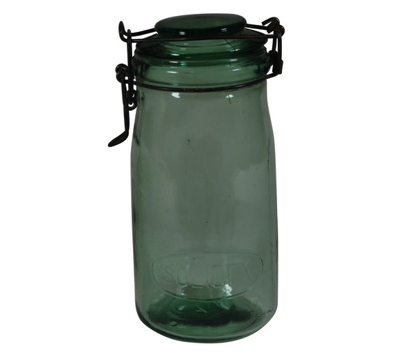 Vintage Green Glass Jar