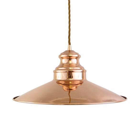 Copper Pendant Light, fabric flex