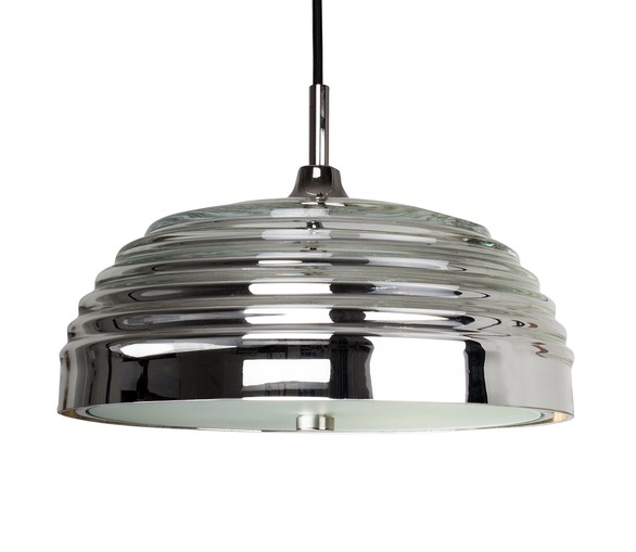 Mirrored Glass Pendant Light