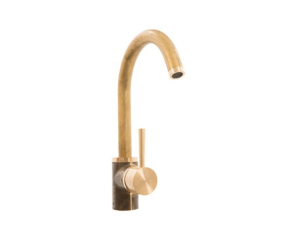 Brass Mixer Tap, one hole with swivel spout