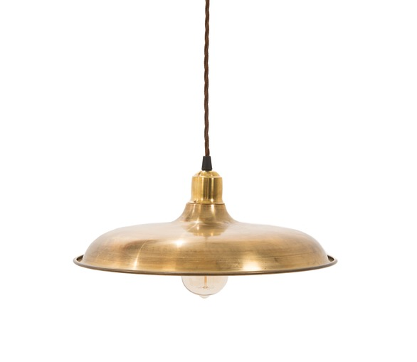 Raw Brass St Omer Pendant