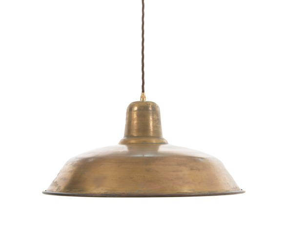 Old School Light - Raw Brass