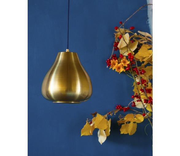 Raw Brass Drop Pendant