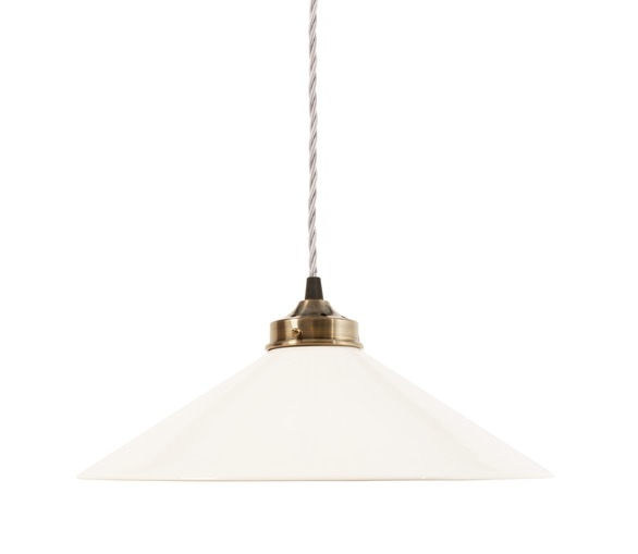 Ceramic Pendant Light - White