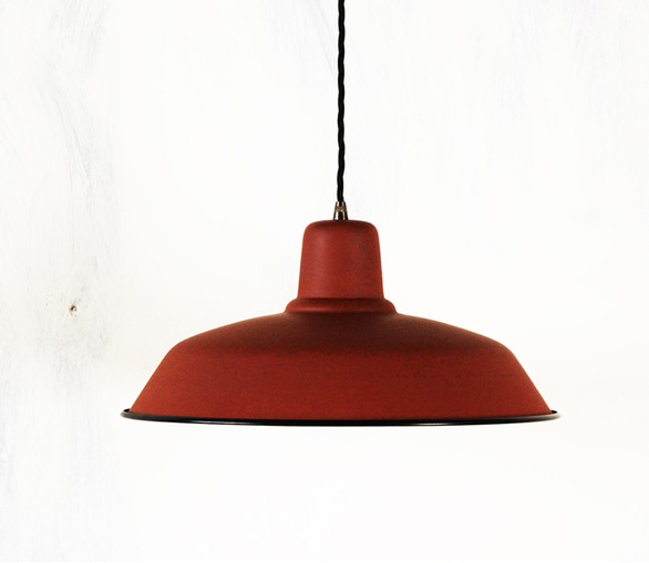 Old School Lamp - matt terracotta
