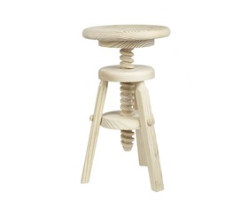 Pine Stool, adjustable